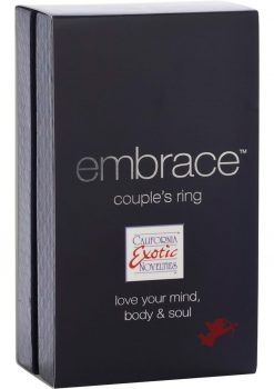 Embrace Couples Ring Silicone Cockring Waterproof Purple