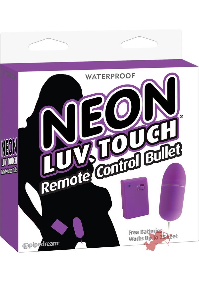 Neon Luv Touch Romote Control Bullet Waterproof Purple