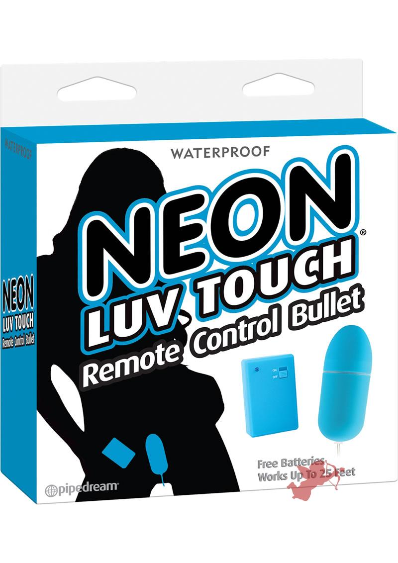 Neon Luv Touch Romote Control Bullet Waterproof Blue