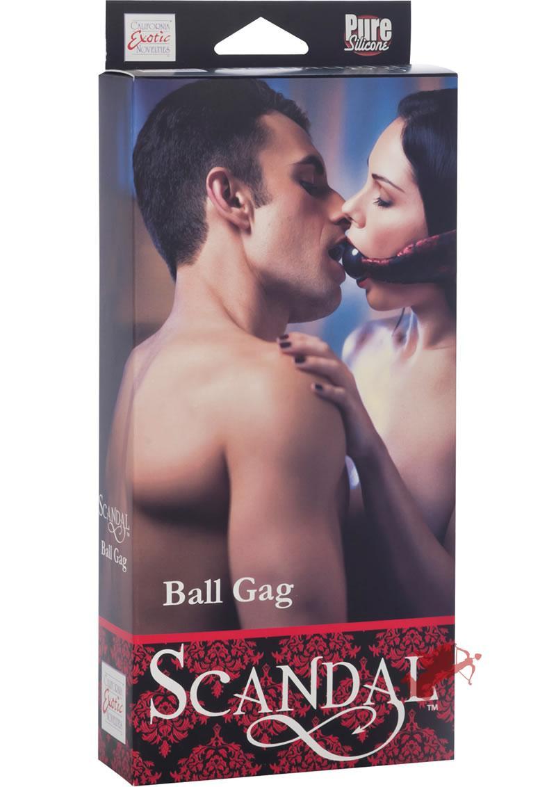 Scandal Ball Gag Red/Black