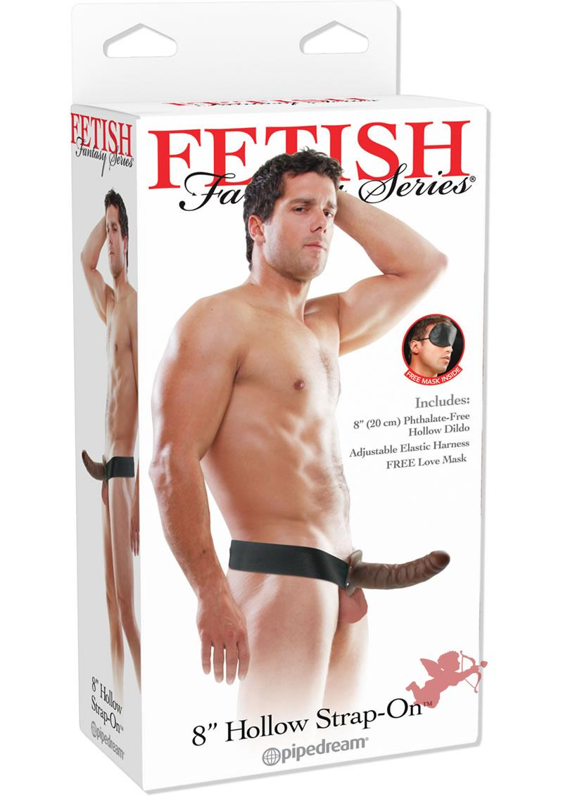 Fetish Fantasy Hollow Adjustable Strap On 8 Inch Brown