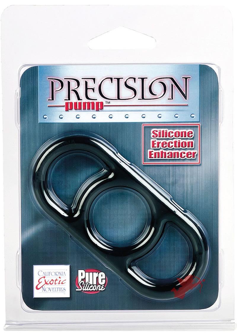 Precision Pump Erection Enhancer Silicone Cock Ring Smoke