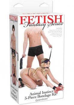 Fetish Fantasy Animal Instinct Bondage Kit 5 Piece Black