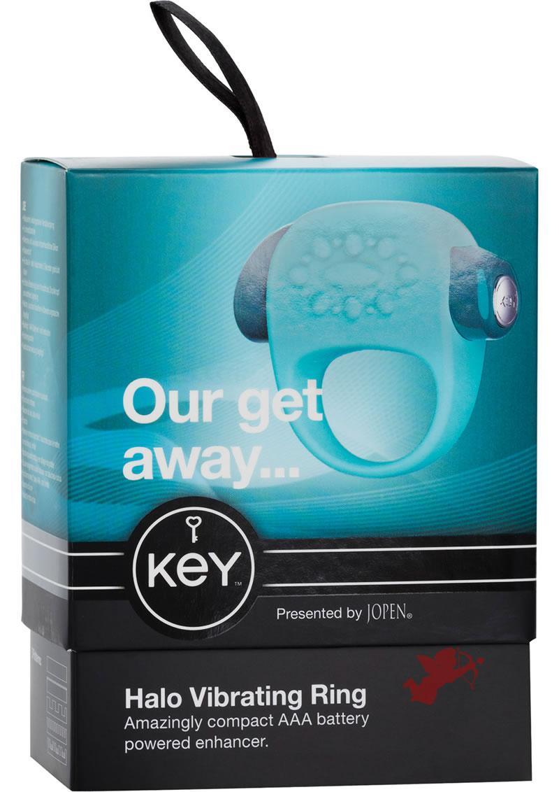 Key Halo Silicone Vibrating Ring Waterproof Robin Egg Blue
