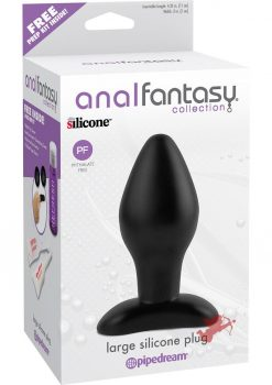Anal Fantasy Large Silicone Plug Black 4.25 Inch