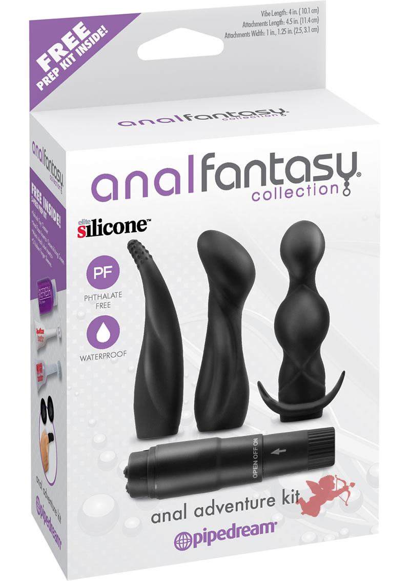 Anal Fantasy Silicone Anal Adventure Kit Waterproof Black
