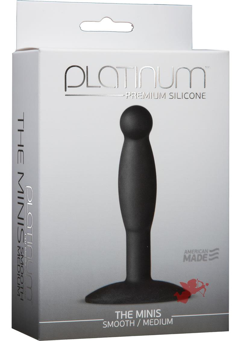 Platinum Silicone Minis Smooth Med Blk