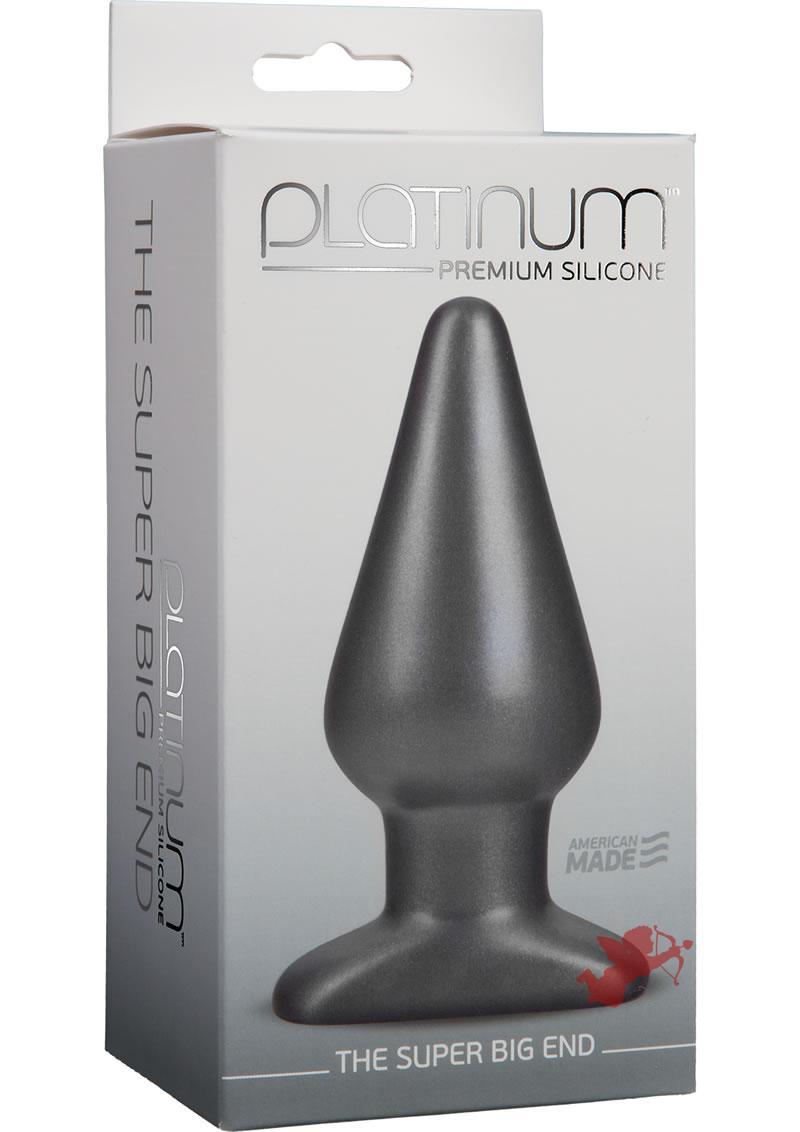Platinum Silicone Super Big End Charcoal