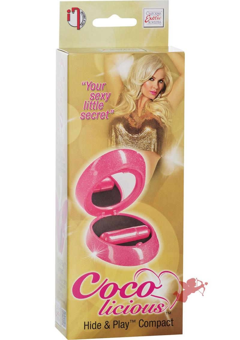 Coco Licious Hide and Play Compact Massager Waterproof Pink 3.25 Inch