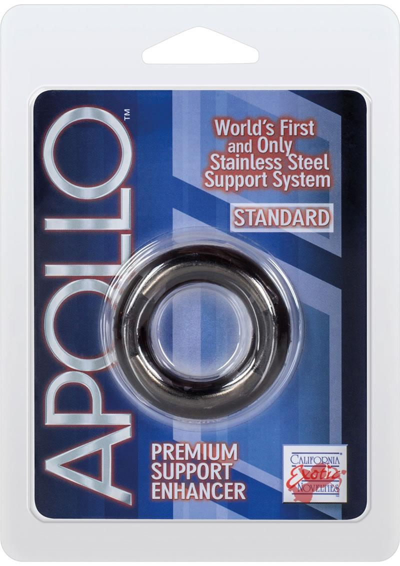 Apollo Premium Support Enhancer Cockring Standard Smoke 1.75 Inch Diameter