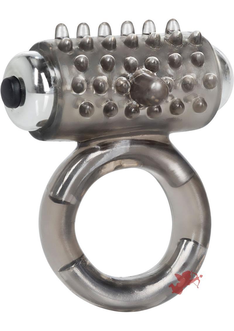 Apollo 7 Fuction Premium Enhancer Vibrating Cockring Smoke 1.5 Inch Diameter