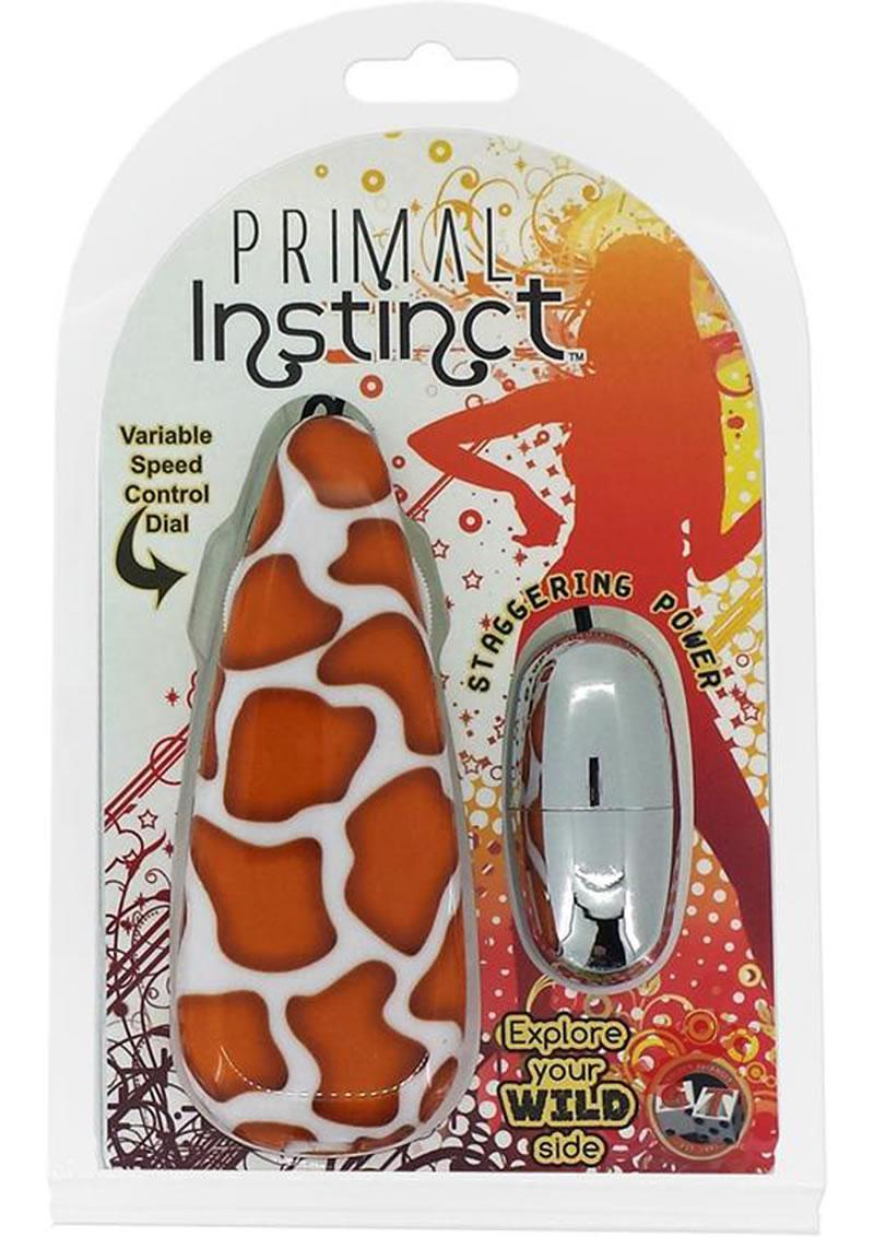 Primal Instinct Remote Control Bullet Giraffe Print