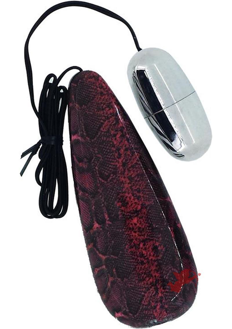 Primal Instinct Remote Control Bullet Snake Print Red