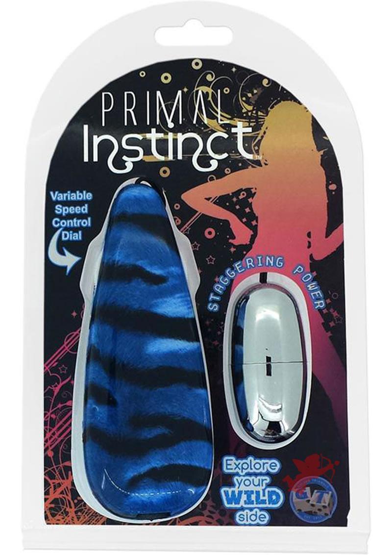 Primal Instinct Remote Control Bullet Tiger Print Blue