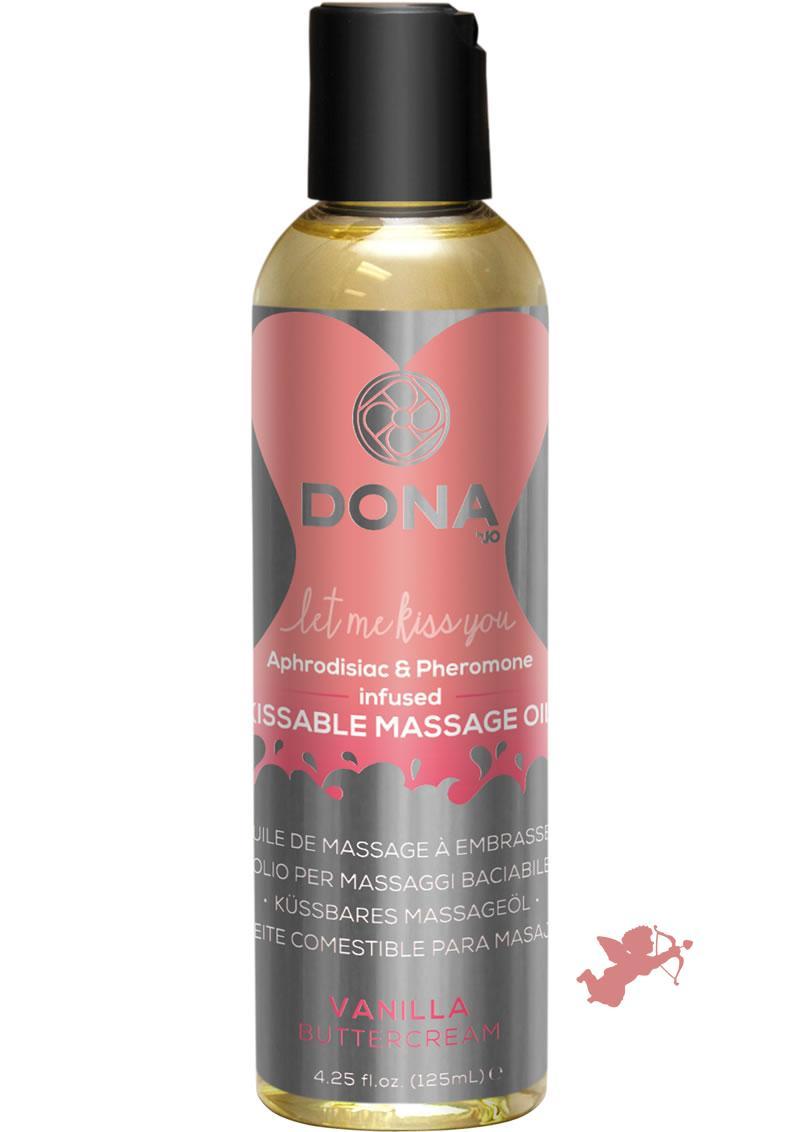Dona Kissable Massage Oil Vanilla 4oz
