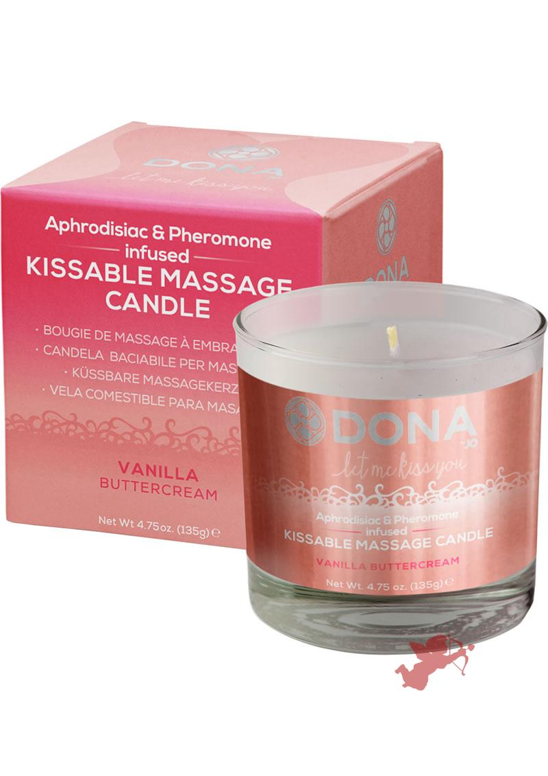 Dona Kissable Massage Candle Vanilla 7.5oz