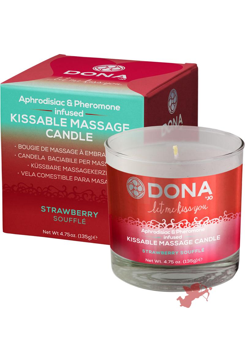 Dona Kissable Massage Candle Strawberry 7.5oz