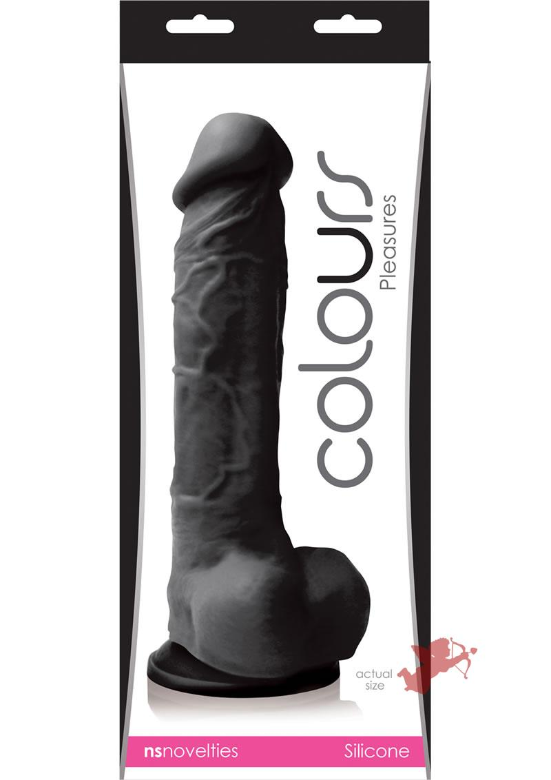 Colours Pleasures Silicone Dong Black 8 Inch