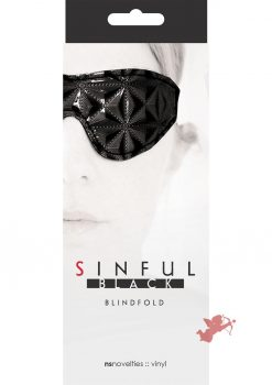 Sinful Vinyl Blindfold Black