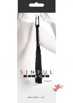 Sinful Whip Flogger Black