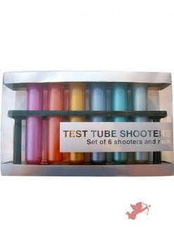 Test Tube Shooters Assorted Metallic Colors Set Of 6 Tubes Per Rack