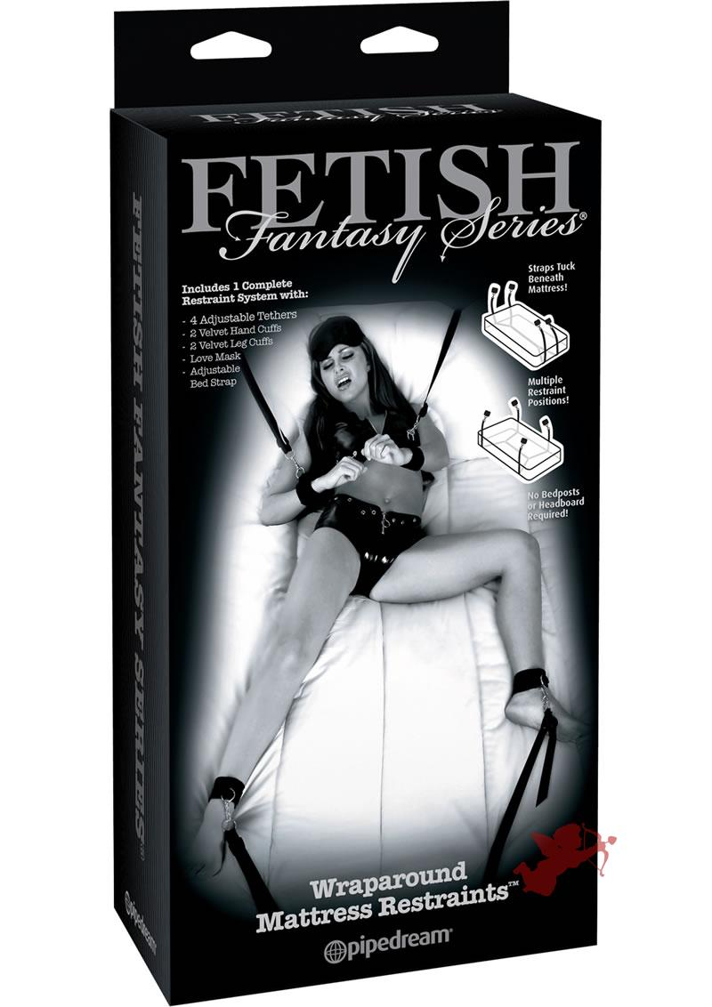 Fetish Fantasy Wraparound Mattress Restraints Black