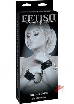 Fetish Fantasy Couture Cuffs Adjustable Black