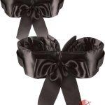 Fetish Fantasy Bowtie Cuffs Adjustable Black
