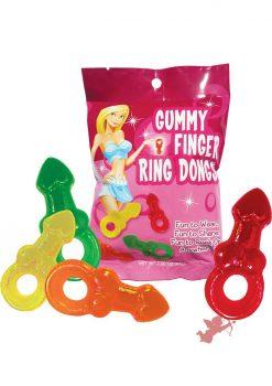 Gummy Finger Ring Dongs 12/disp
