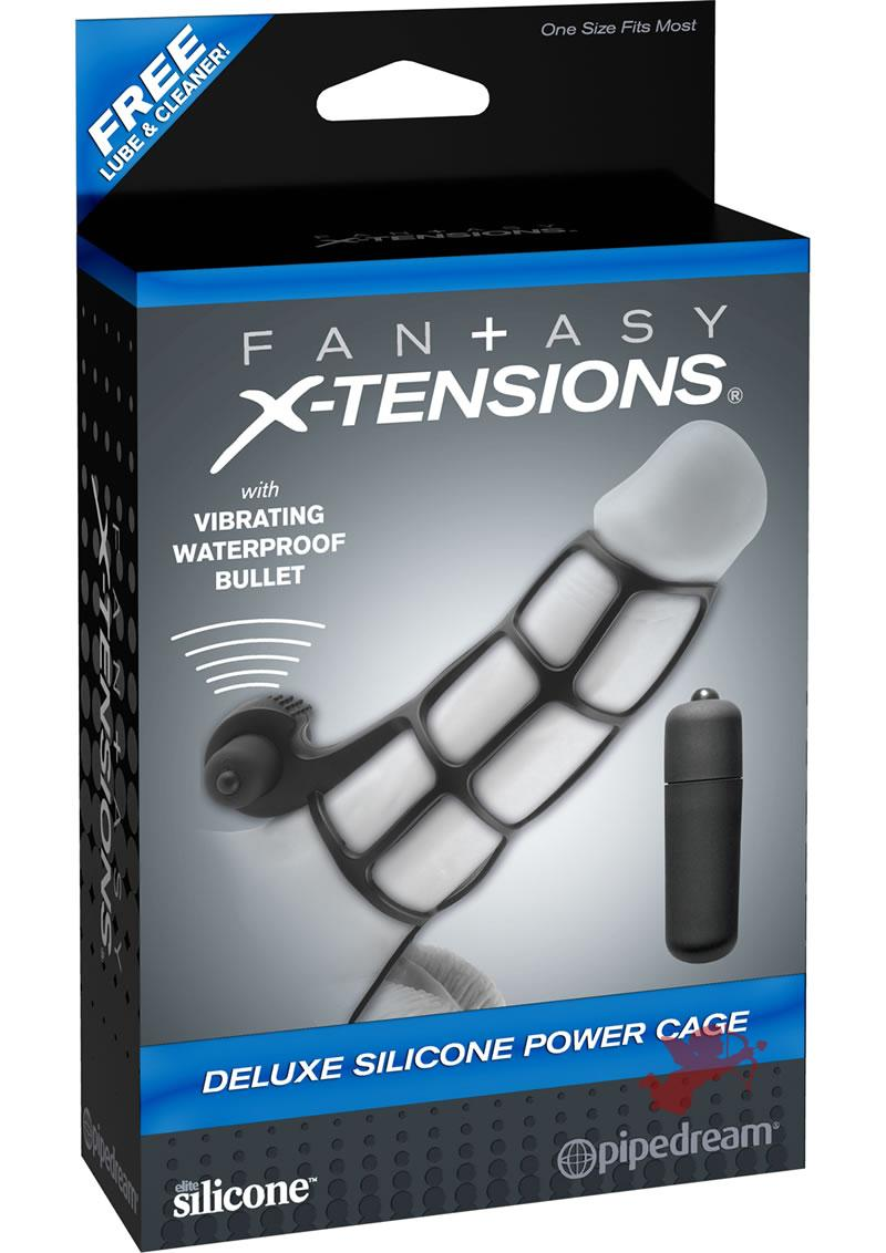 Fx Deluxe Silicone Power Cage Black