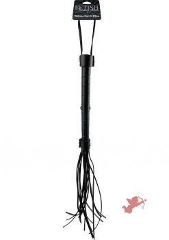 Fetish Fantasy Limited Edition Deluxe Cat O Nine Flogger Black