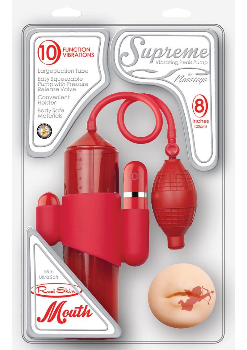 Supreme Vibrating Penis Pump Mouth Red