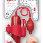 Supreme Vibrating Penis Pump Vagina Red