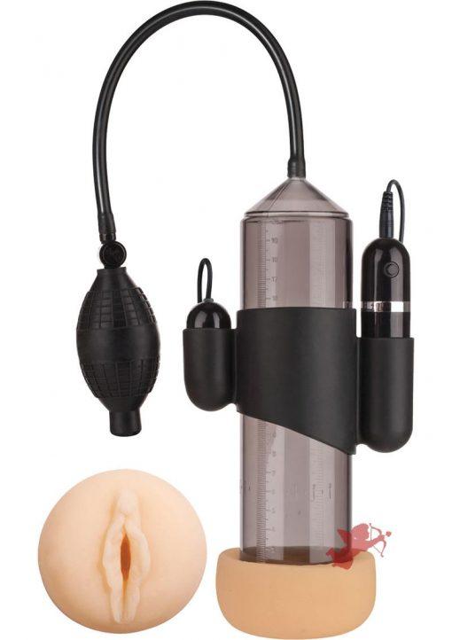 Supreme Vibrating Penis Pump Vagina Blac