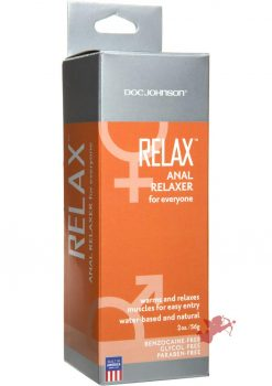 Relax Anal Relaxer For Everyone Waterbased Lubricant 2 Ounce