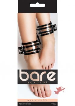Bare Bondage Vinyl Ankle Cuffs Clear