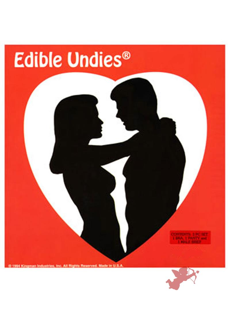 Edible Undies 3 Piece Strawberry Chocolate