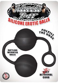 Mack Tuff Silicone Erotic Balls Black