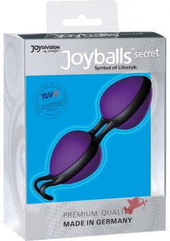Joyballs Secret Dual Silicone Kegel Exerciser Violet And Black