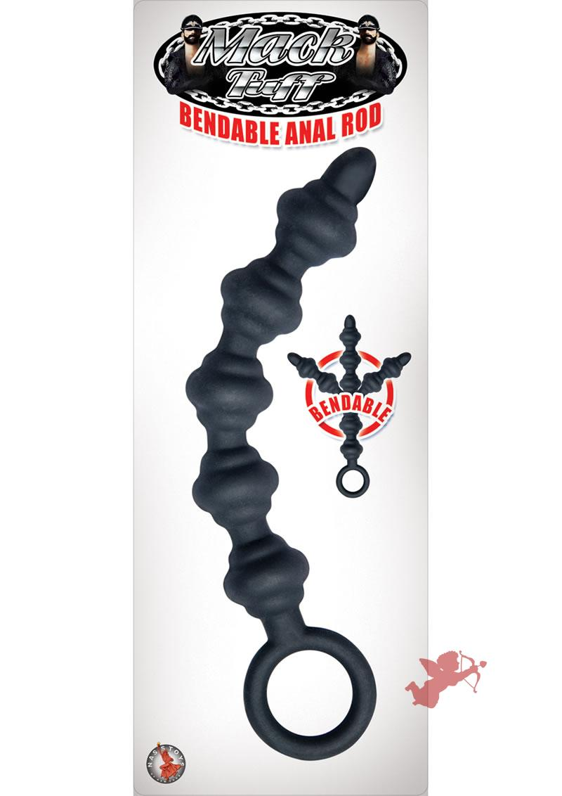 Mack Tuff Bendable Anal Rod Waterproof Black 7.12 Inch