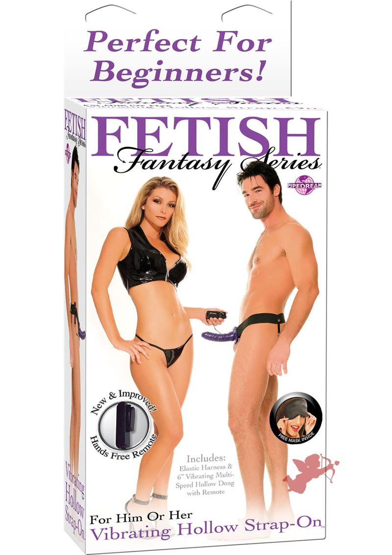 Fetish Fantasy Vibrating Hollow Strap On Purple