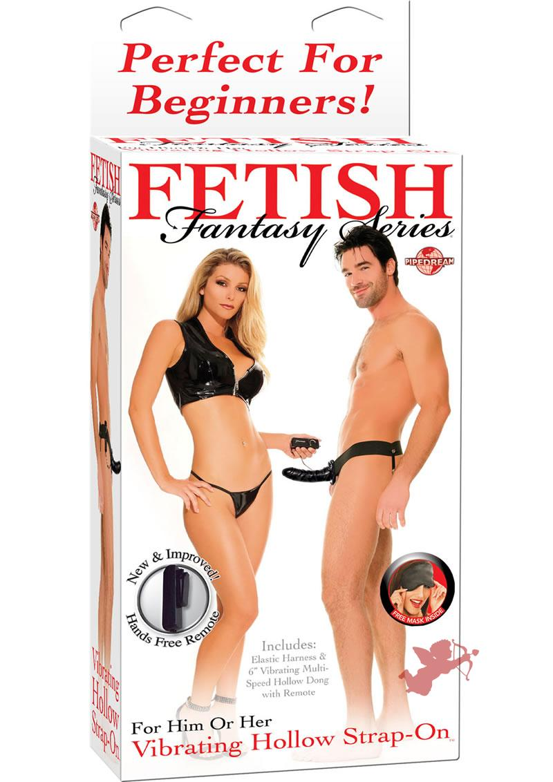 Fetish Fantasy Vibrating Hollow Strap On Black