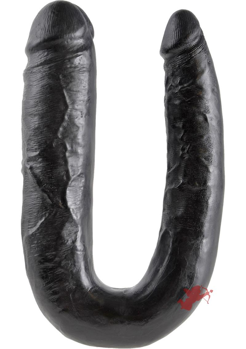 King Cock L Double Trouble Black