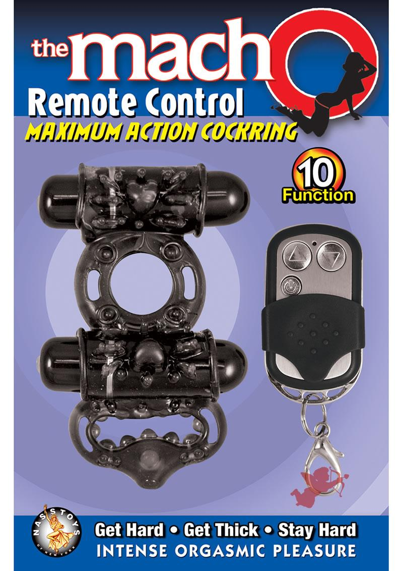 Macho Remote Control Cockring Black