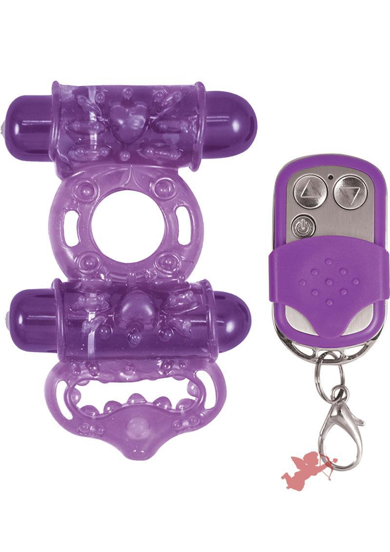 Macho Remote Control Cockring Purple