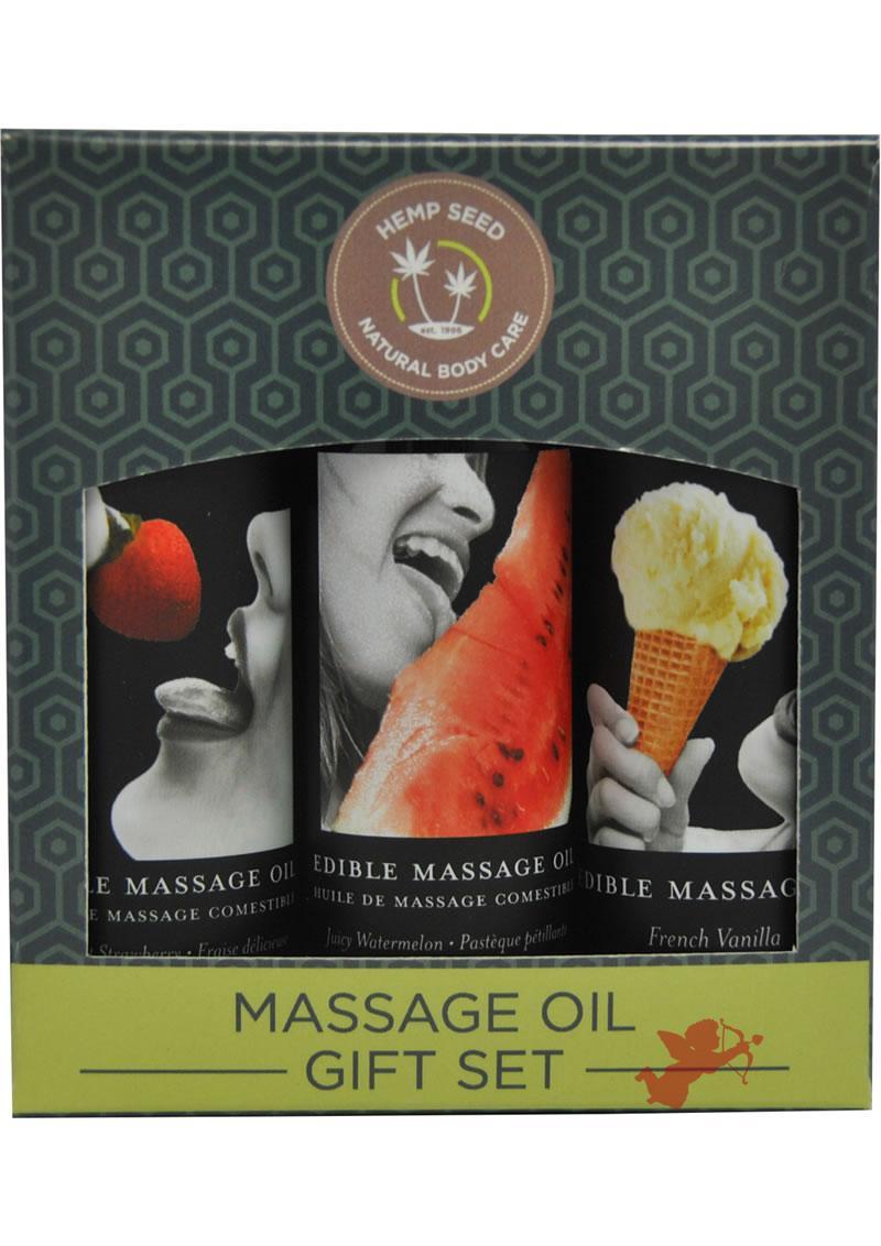 Massage Oil Edible Gift Set 3 Each