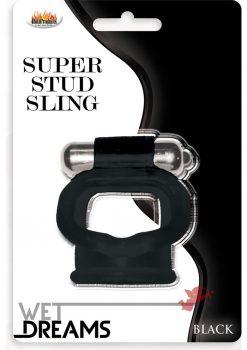 Wet Dreams Super Stud Sling - Black