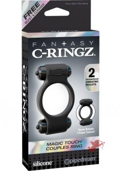 Fantasy C-Ringz Magic Touch Couples Ring Black