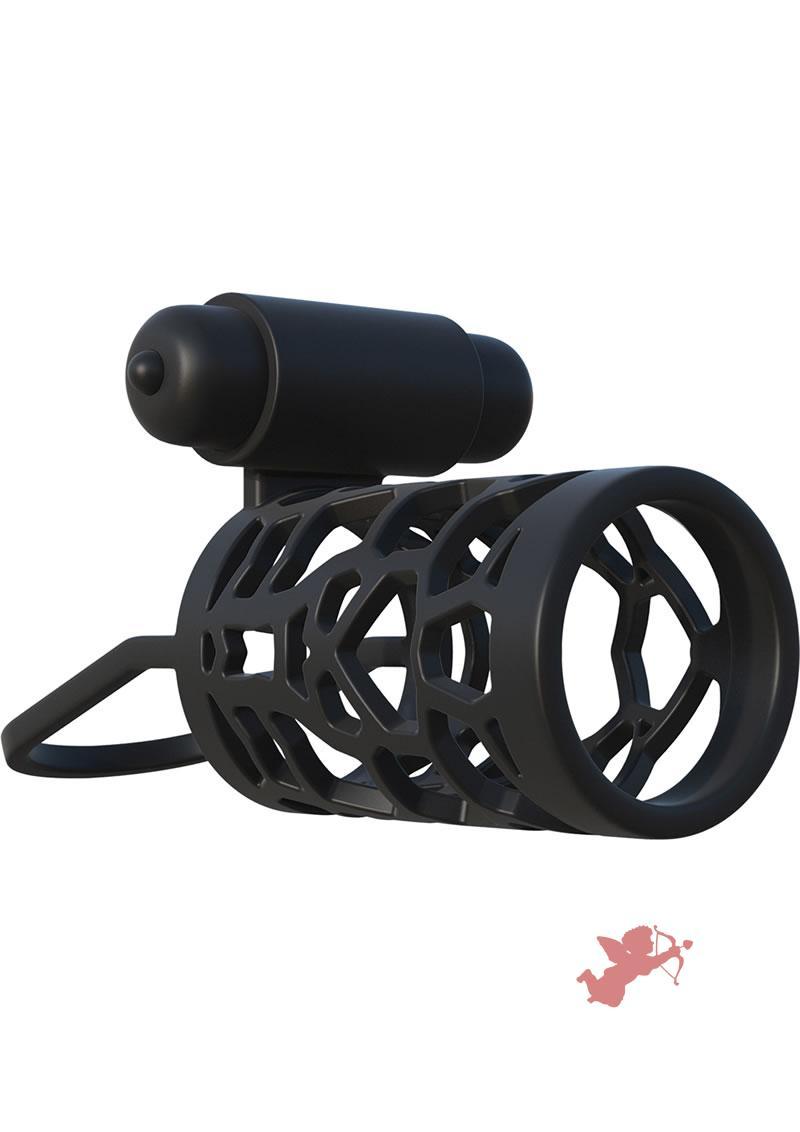 Fantasy C-Ringz Thick Dick Silicone Vibrating Cage