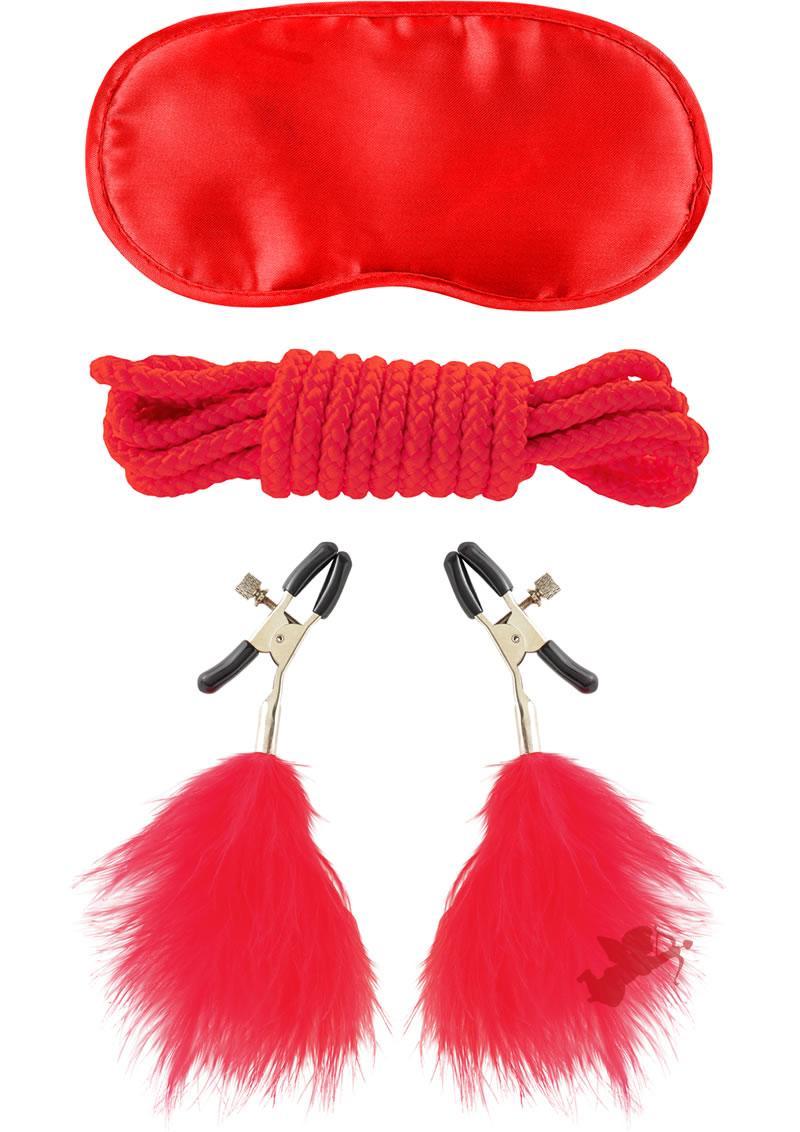 Fetish Fantasy Lovers Bondage Kit Red
